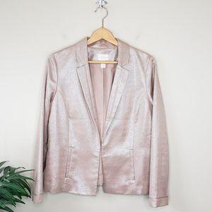 Chico's | Shimmery Rose Gold Tone Blazer